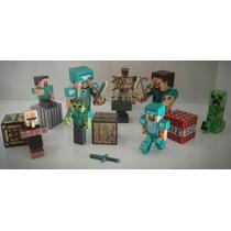 Minecraft Kit 16 Peças Boneco Brinquedo Frete Grátis