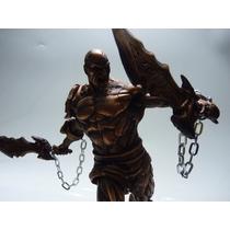 Kratos God Of War - Estátua Em Resina