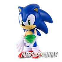 Boneco Sonic Articulado Sega E Acessórios - Envio Rápido!!