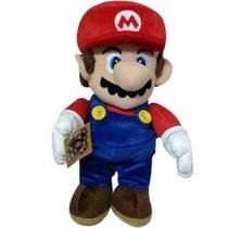 Boneco De Pelucia Mario Bros Tamanho Grande 30cm Vermelho