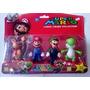 Kit Super Mario Bros Collection Com 6 Personagens Cartelado