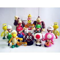 Bonecos Super Mario Super Mario Yoshi Peach Luigi Coleções