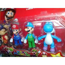 Super Mario Coleção - Kit Com 4 Bonecos - Pronta Entrega
