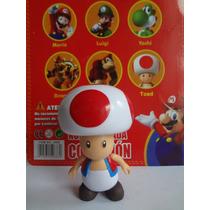 Boneco Colecionável Toad 10cm Turma Do Mario Bros (novo)