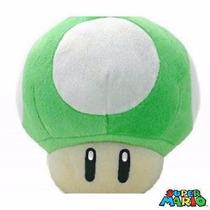 Cogumelo Verde 1 Up De Pelúcia Super Mario Bros Nintendo