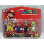 Kit Super Mario Com 4 Personagens À Pronta Entrega