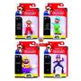 World Of Nintendo Boneco Mario C/ 4 - Dtc Licenciado