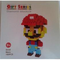 Mario Boneco Brinquedo Super Mario Blocks Presente Criativo