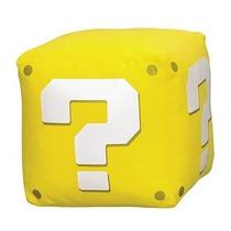 Pelúcia Question Cube Com Som Super Mario
