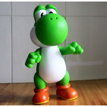 Mario Boneco Brinquedo Super Mario Yoshi 25 Cm Pvc