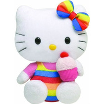 Boneca Hello Kitty - Cupcake - Original By Ty 15 Cm