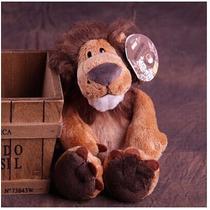 Bichinho Fofo Leão De Pelúcia Marrom Safari 25cm Baby Alex