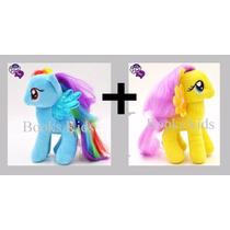 Pelúcia My Little Pony Rainbow Dash + Fluttershy Amarela