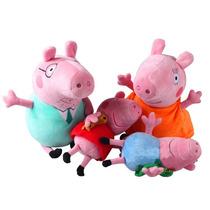 Família Da Peppa Pig Pelúcia Pronta Entrega - George Papai