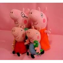 Peppa Pig E Família Pig - 4 Bonecos - Pronta Entrega