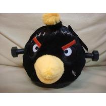 Pelucia Brinquedo Jogo Angry Bird Seasons Medio Preto Novo