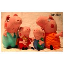 Bonecos De Pelúcia ¿ Peppa Pig E Família ¿ 4 Personagens