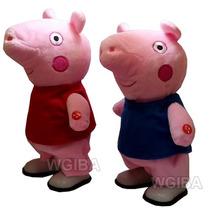 2 Pelucias Peppa Pig E George Pig Musical Que Andam Familia