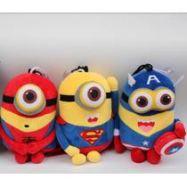 Minions Vingadores Super Herói Avengers Pelúcia Musical