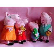 Peppa Pig Pelúcia Família 4 Bonecos - A Pronta Entrega
