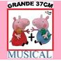 Pelucia Casal Peppa Pig E George Musical Grand 37cm D Altura
