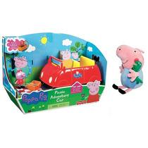 Carro Peppa Pig Papai Pig + George Pig De Pelúcia Peppa Pig