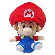 Boneco Pelúcia Mario Baby Super Mario Bros 13cm Oficial