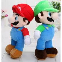 Lindas Pelúcias Mario E Luigi 23 Cms - Mario Bros - Nintendo