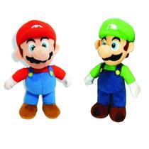 Bonecos Mario Bros E Luigi De Pelúcia Kit Com 2 Unidades