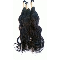 Cabelo Humano Mega Hair Levemente Ondulado 60-65cm 150 Gr.