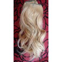 Cabelo Humano Loiro Leves Ondas Tela 25 Cm 50 Gr- Mega Hair