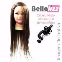 Cabeça De Boneca Para Treino Mista 70/30 C/ Suporte Bellaliz