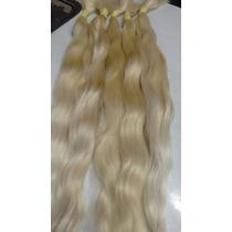 Cabelo Humano Loiro Claro Ondulado 50 Gr 50 Cm-mega Hair