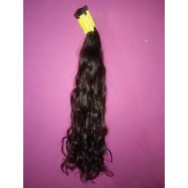 Cabelo Humano Natural P/mega Hair Leve Ondas 60 Cm 50 Gramas