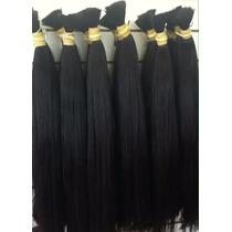 Aplique-cabelo Humano -megahair-liso Natural - 80cm -50 Gr