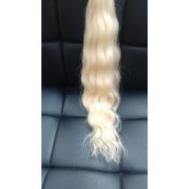 Cabelo Humano Loiro Claro Ondulado 50 Gr 40 Cm-mega Hair