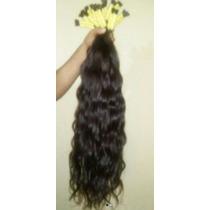 Cabelo Humano Natural P/ Mega Hair Leve Ondas 75 Cm 200 Gr