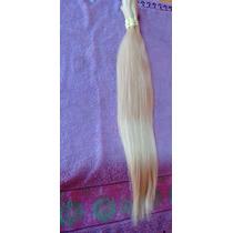 Cabelo Natural Humano Loiro Liso 55cm 120gr- Mega Hair