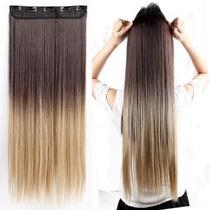 Alongamento Aplique Tic Tac Ombre Hair Liso 60 Cm 100 Gramas