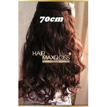 Alongamento Aplique Tictac Mega Hair Castanho Escuro 70cm