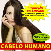 Alongamento Aplique Tic Tac Humano 70cm 120g Mega Hair