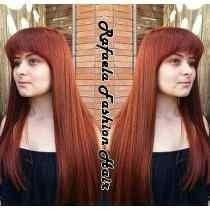 Aplique Mega Hair Ruivo Escuro 150 Gr 70 Cm Pronta Entrega