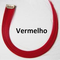 Mecha Colorida Tic Tac 3cm X 50cm - Vermelho