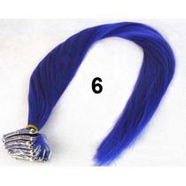 Mecha Coloridas Tic Tac Aplique 3cm X 60cm - Azul Escuro