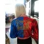 Sob Encomenda: Jaqueta Harley Quinn Arlequina Multi-colorida