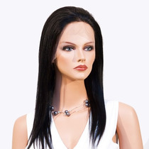Peruca Front Lace Cabelo Humano Virgem Liso 45 Cm