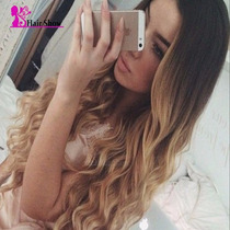 Peruca Front Lace 50 Cm Baby Hair Loira Cabelo Humano