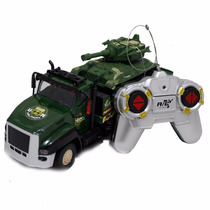 Caminhão De Controle Remoto Traseira Camufla Com Tanque