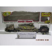 Raro Caminhão Militar C/ Lancha Controle Remoto Colecionável