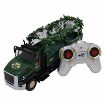 Caminhão De Controle Remoto Traseira Camuflada
